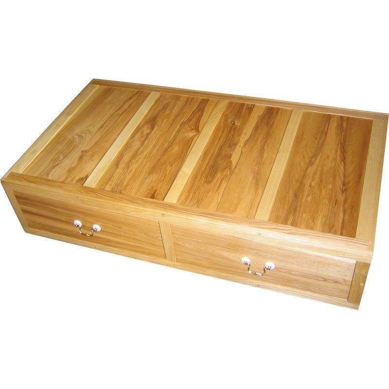 Buy Fabric Wood Underbed Storage Drawers On Castors Set Of 2
