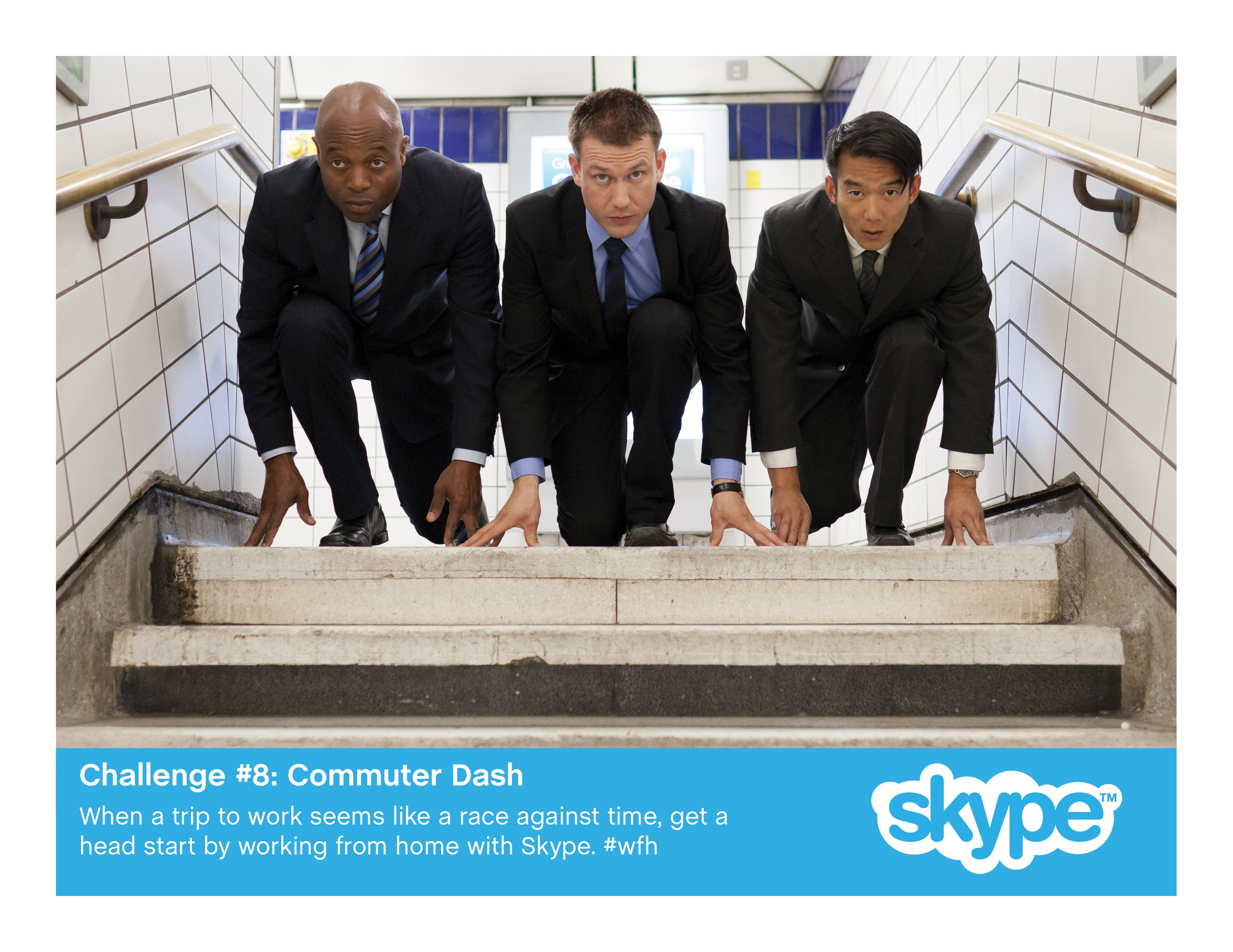 When a trip to work seems like a race against time, get a head start by working from home with Skype.