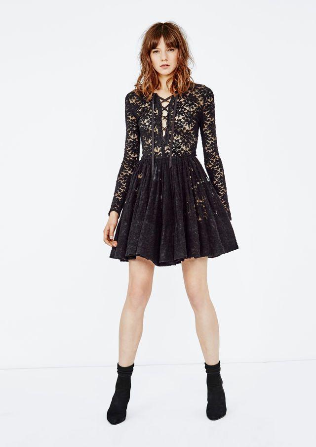 robe maje crochet noir