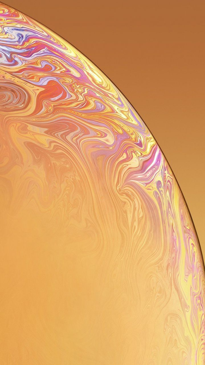 iPhone X XR, surface, bubble, yellow wallpaper Art