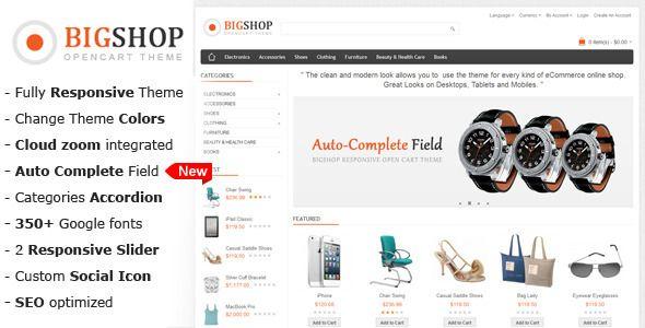 Bigshop Multi Purpose Responsive Opencart Theme Themeforest Item