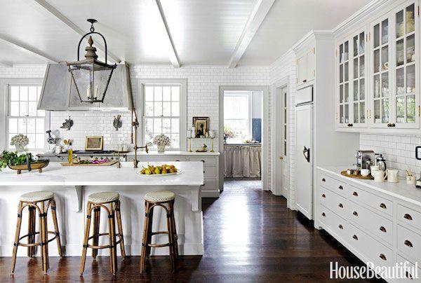 Beautiful White Kitchen with Lantern