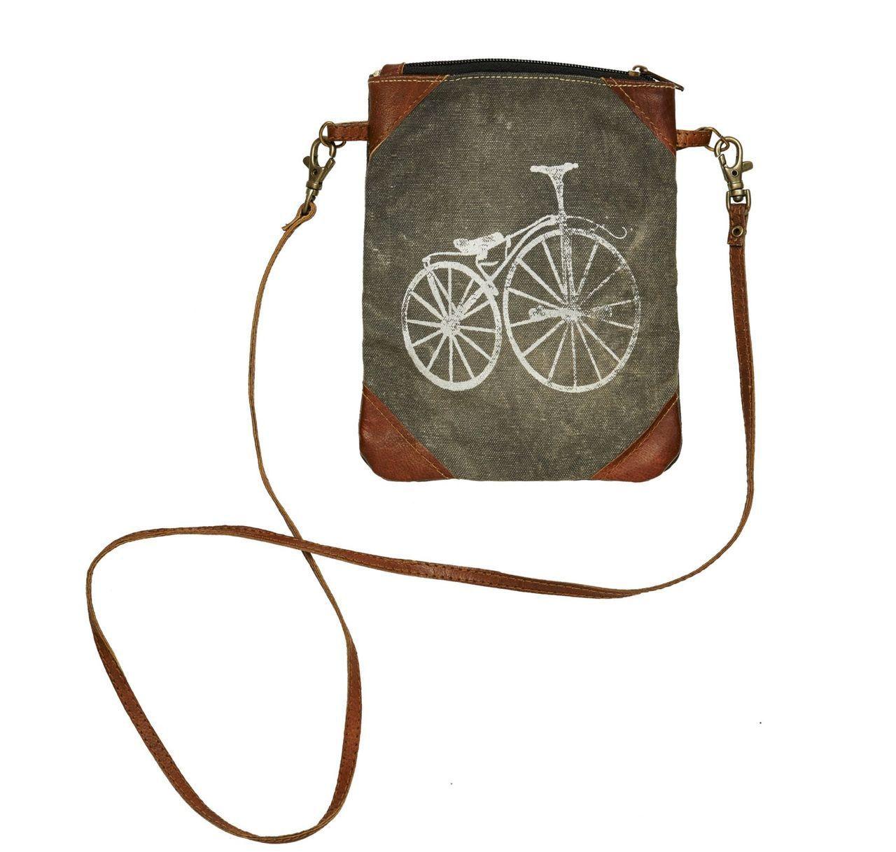 b04d42e86b71 Mona B Paris Streeter Recycled Canvas Small Crossbody Bag