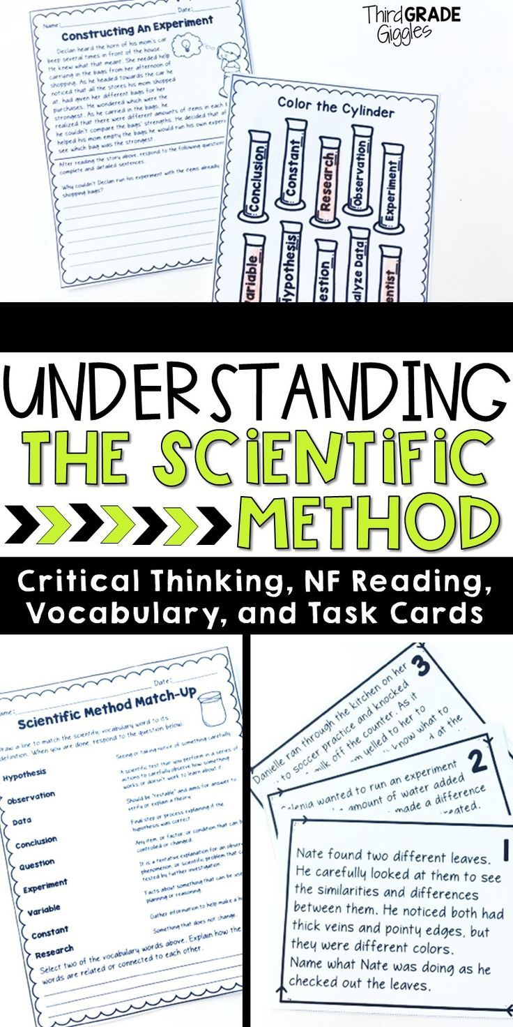 Engage Your Students In Critical Thinking Activities To Help Them Get A Deeper Gras Scientific Method Critical Thinking Activities Scientific Method Activities