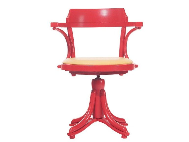Kontor Stuhl Mit Integriertem Kissen By Ton Stuhle Holz Und Drehstuhl