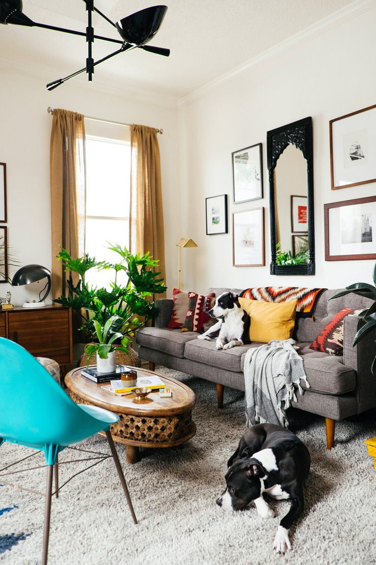 Before And After Living Room Makeover Small Space Design West Elm
