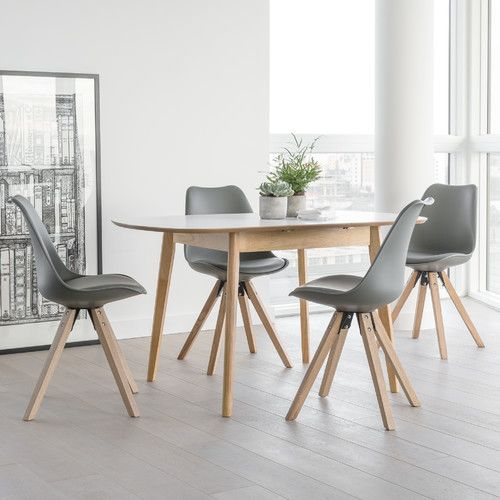 Used Kitchen Table And Chairs: Fabron Extendable Dining Set With 4 Chairs