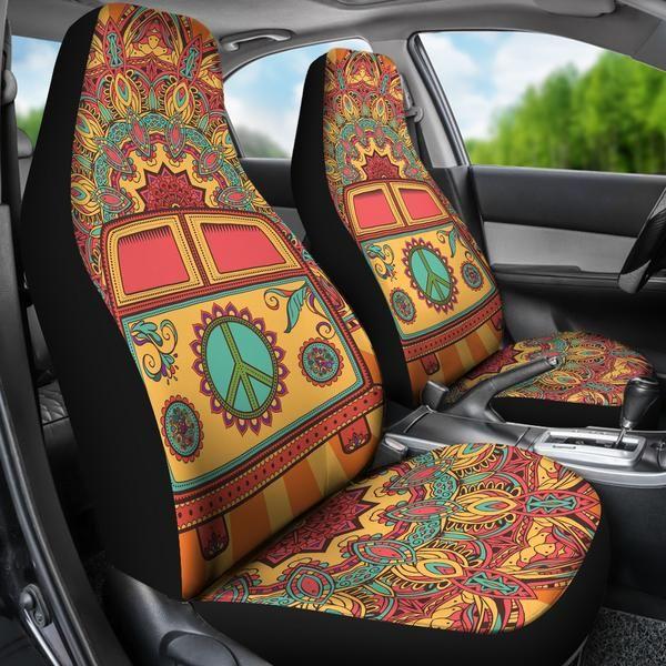 Hippie Van Car Seat Covers | Hippie car, Car accessories ...