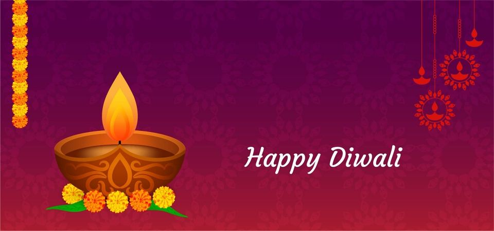 Happy Diwali Elegant Beautiful Banner