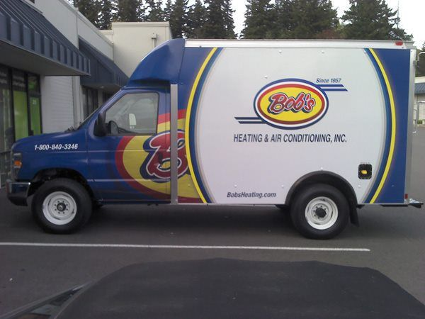 Bob S Heating Mini Cube Car Wrap Heating And Air Conditioning
