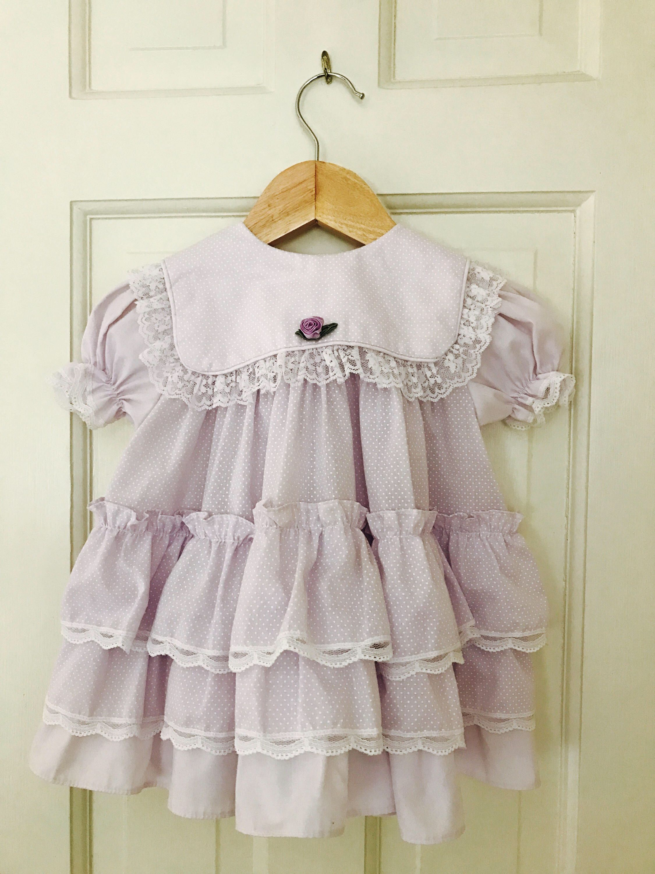 A personal favorite from my Etsy shop https://www.etsy.com/listing/516984202/vintage-girls-dress-18-months-pastel