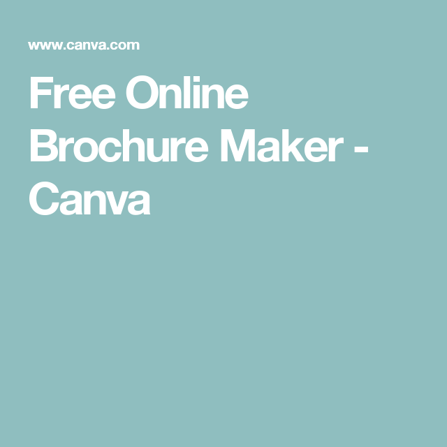 free online brochure maker canva creative tools pinterest
