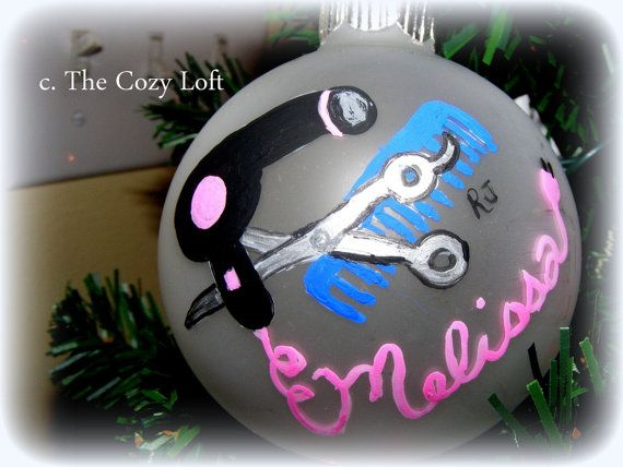 Hairdresser Beautician Personalized Christmas Ornament Gift | The ...