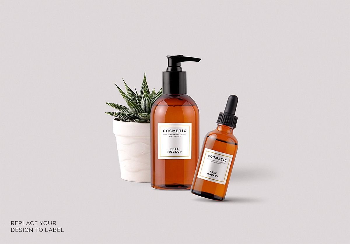 Free Cosmetic Products Mockups On Behance Cosmetics Mockup Free Mockup Cosmetic Packaging Design