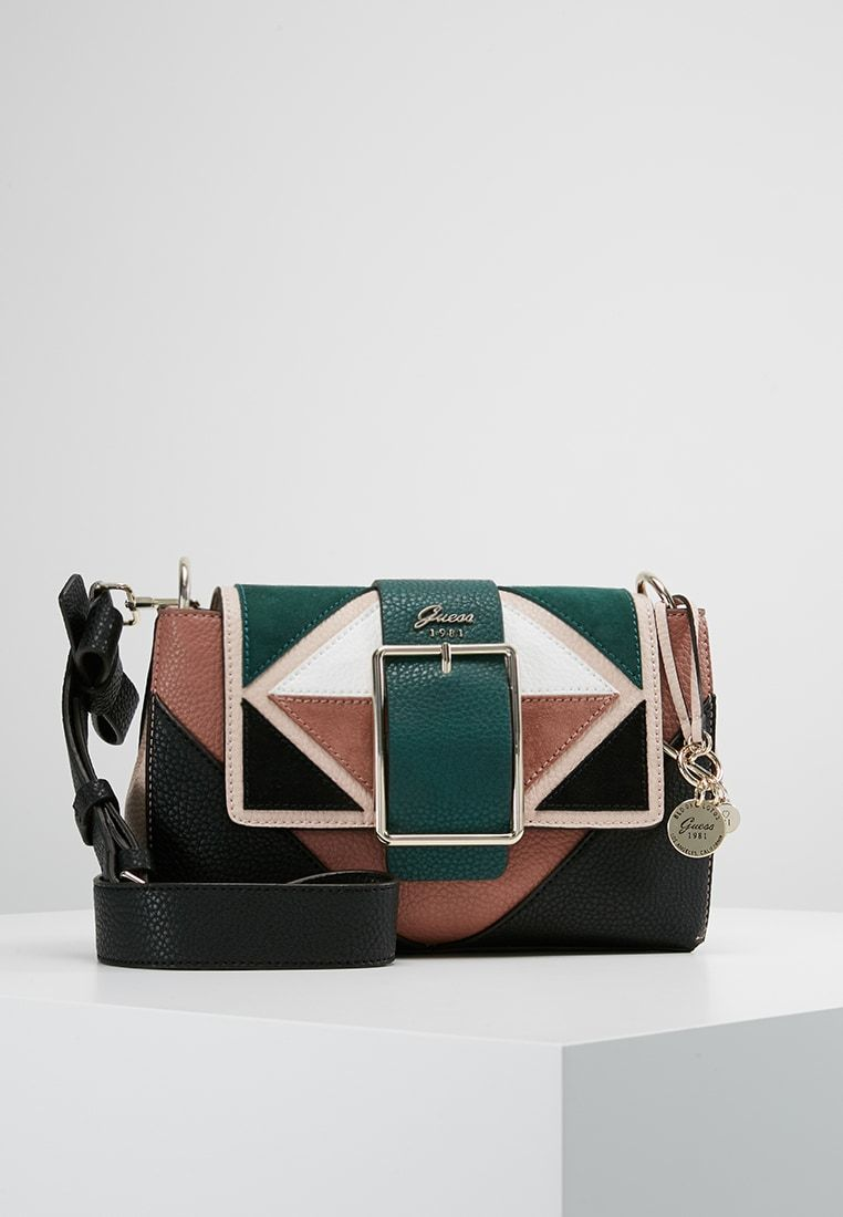 d98c0fa478 Guess CAROLINE SHOULDER BAG - Borsa a tracolla - forest/multi-coloured -  Zalando