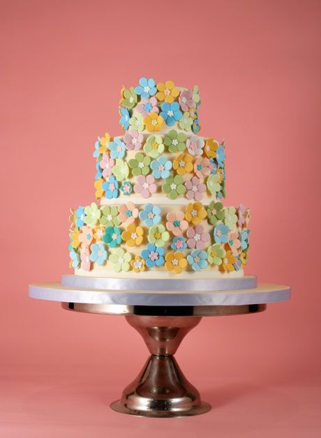 Charm City Cakes - What a pretty idea for a shower cake!