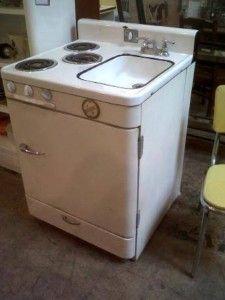 1950u0027s Combo Sink,stove And Refrigerator .