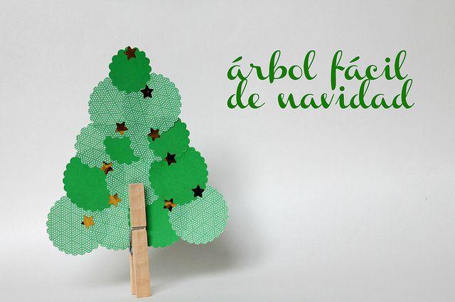 Un rbol de navidad facil n para hacer con ni os - Manualidades con fieltro para navidad ...