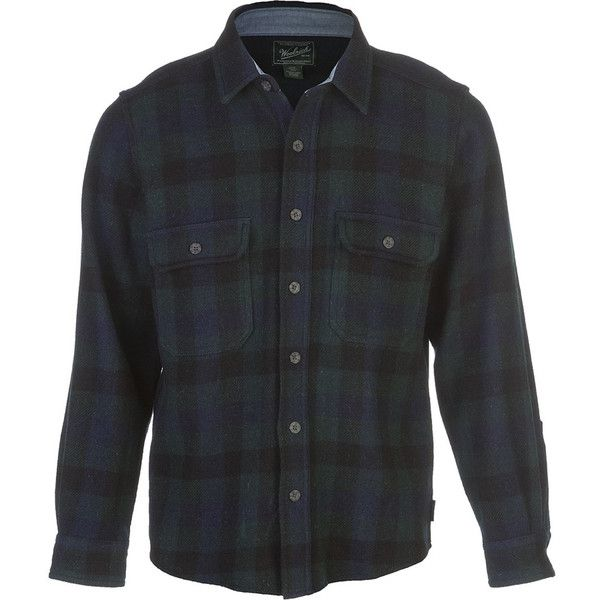 Woolrich Wool Buffalo Flannel Shirt (7.705 RUB) ❤ liked on Polyvore featuring men's fashion, men's clothing, men's shirts, men's casual shirts, mens wool shirts, mens longsleeve shirts, men's regular fit shirts, mens casual long sleeve shirts and woolrich mens shirts