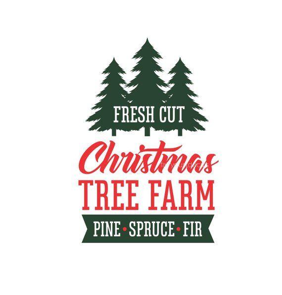 Fresh Cut Christmas Trees Sign.Christmas Decal Computer Cut Vinyl Holiday Decor Make