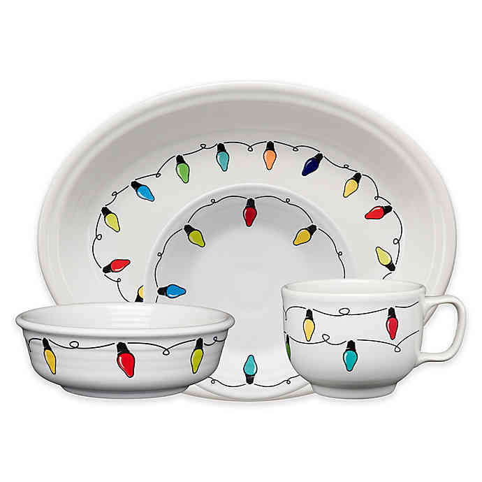 Fiesta® Christmas Lights Dinnerware Collection | Bed Bath & Beyond | Diy christmas lights ...