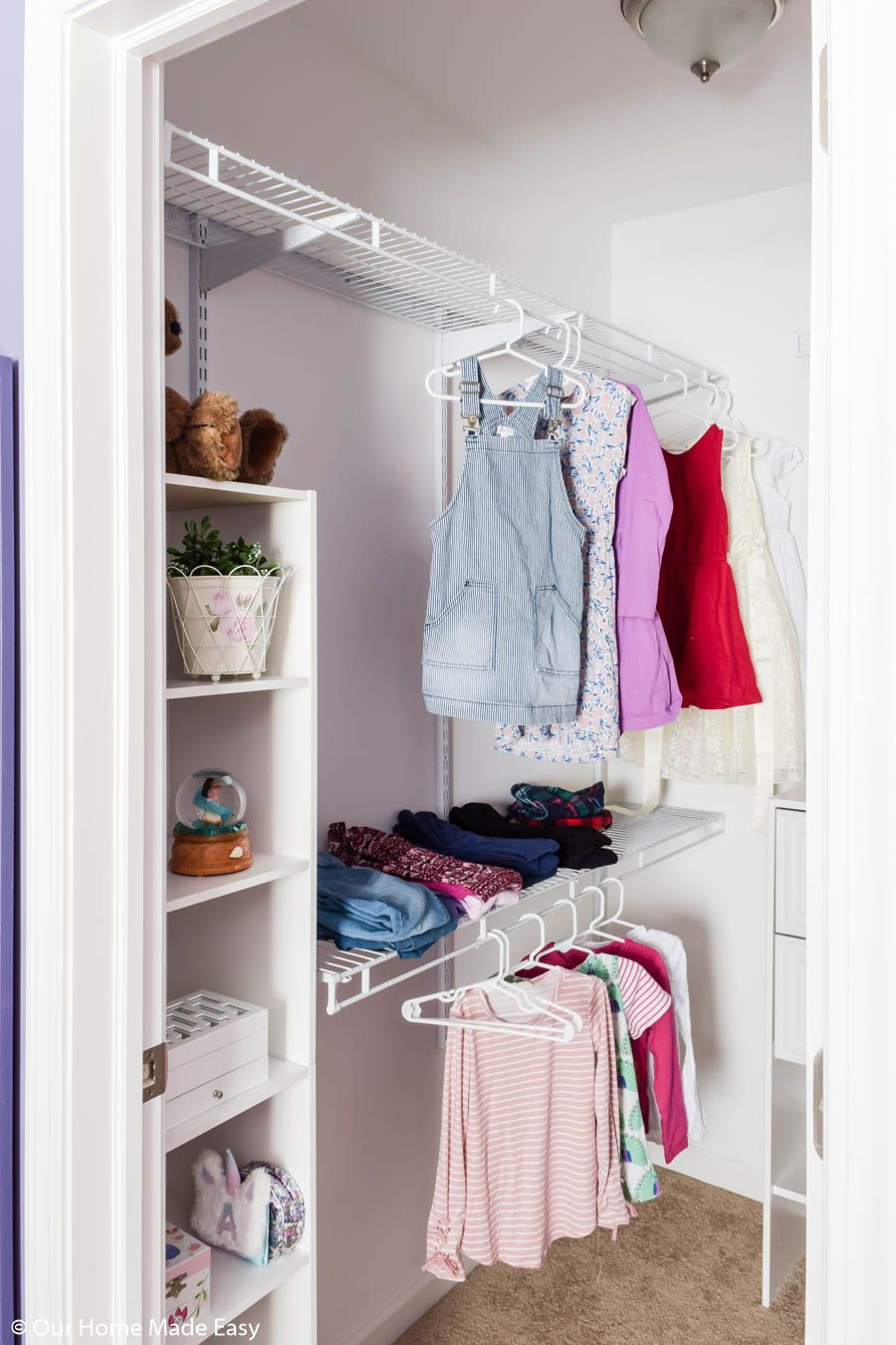 DIY Small Bedroom Closet Organization Reveal in 2020 (With