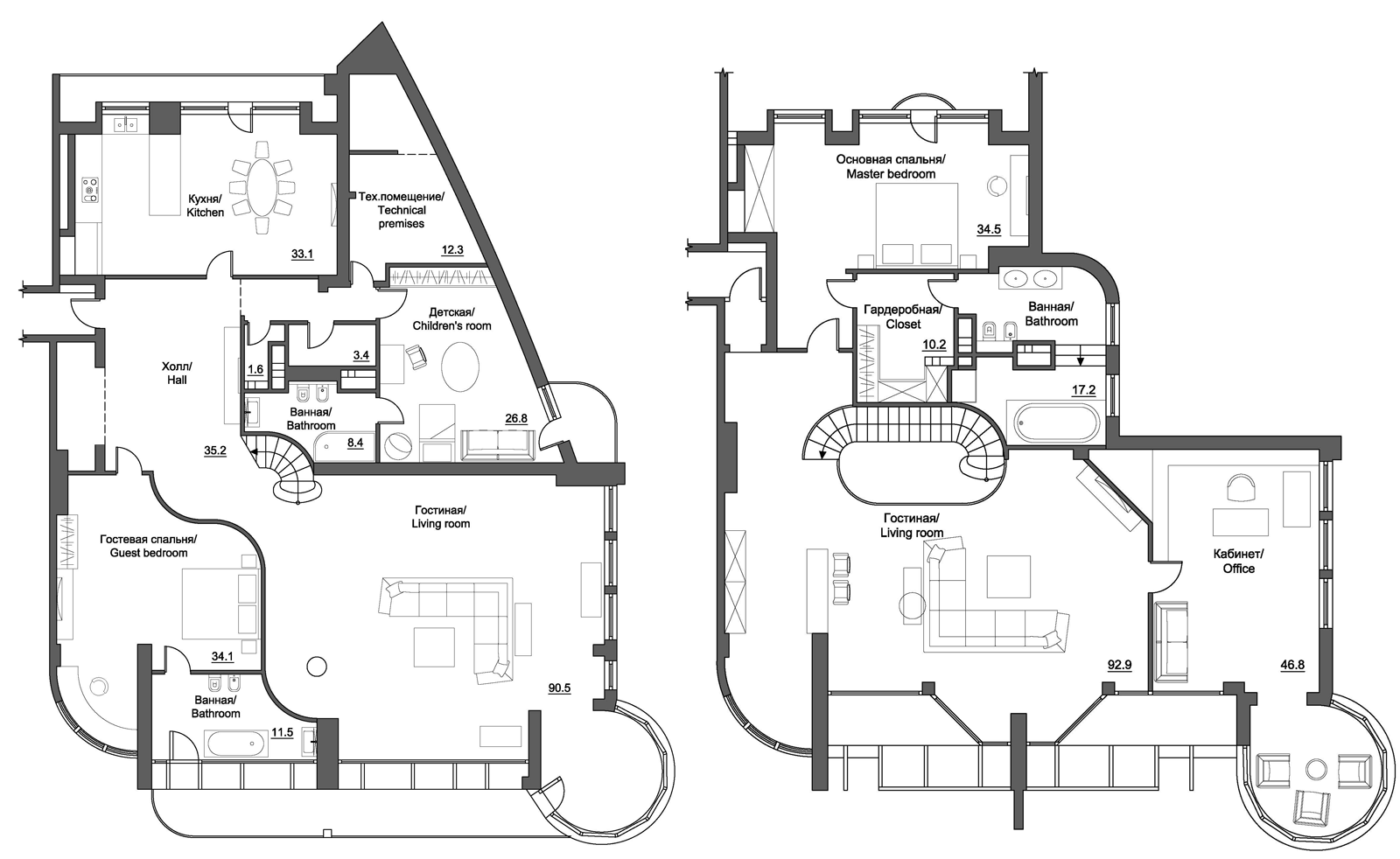 stunning apartment blueprints. penthouses for sale floor plans  Penthouse Apartment Floor Plans Luxury Apartments For Sale In Kiev