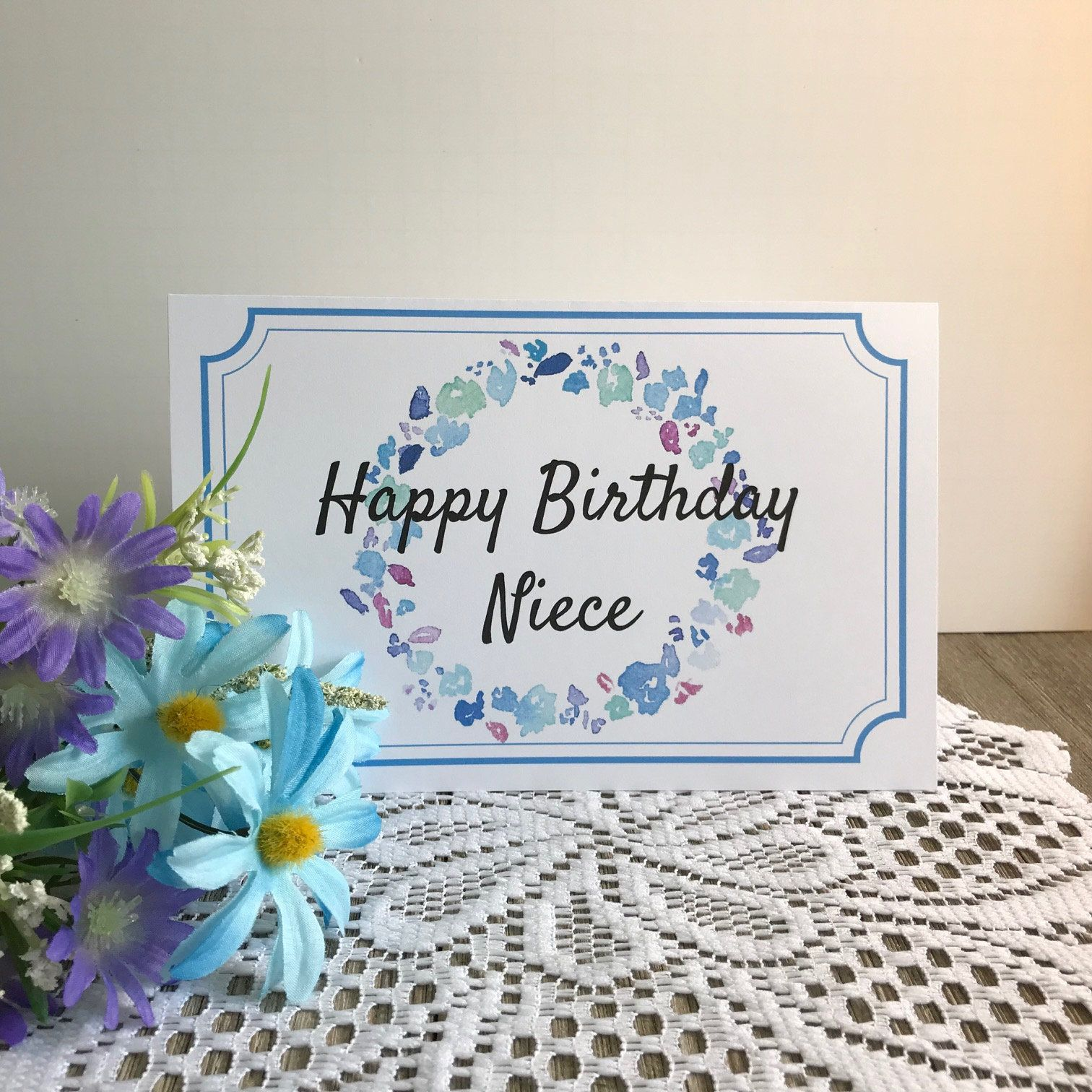 Printable Birthday Card For Niece Greeting Card For Niece