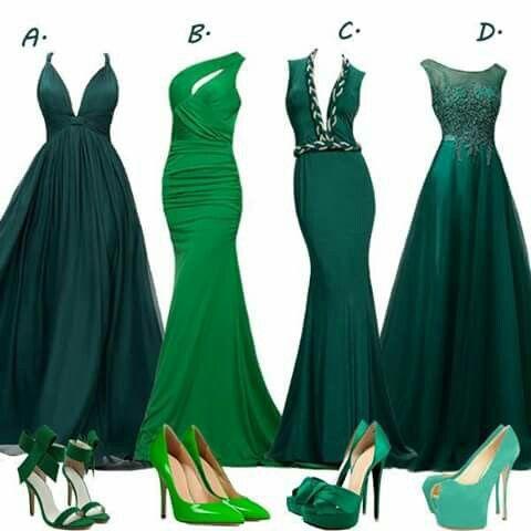 Vestidos De Fiesta Verdes Vestido De Noche Verde Esmeralda