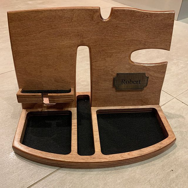 #anniversary #Charging #Dock #Docking #Gift #Glasses #Holder #Mens #Nightstand #Organizer #Phone #Stand #Station #Valentines #Wood #Wooden Wood Organizer Docking Station mens Anniversary gift | Etsy