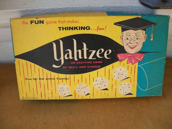 Vintage 1960s Yahtzee Game by vintagesouthernhome on Etsy, $8.00