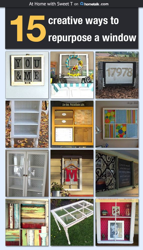 15 Creative ways to repurpose a window