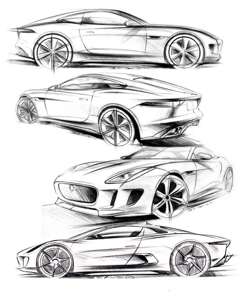 Matthew Beaven S Jaguar Concept Production Pencil Sketches F Type
