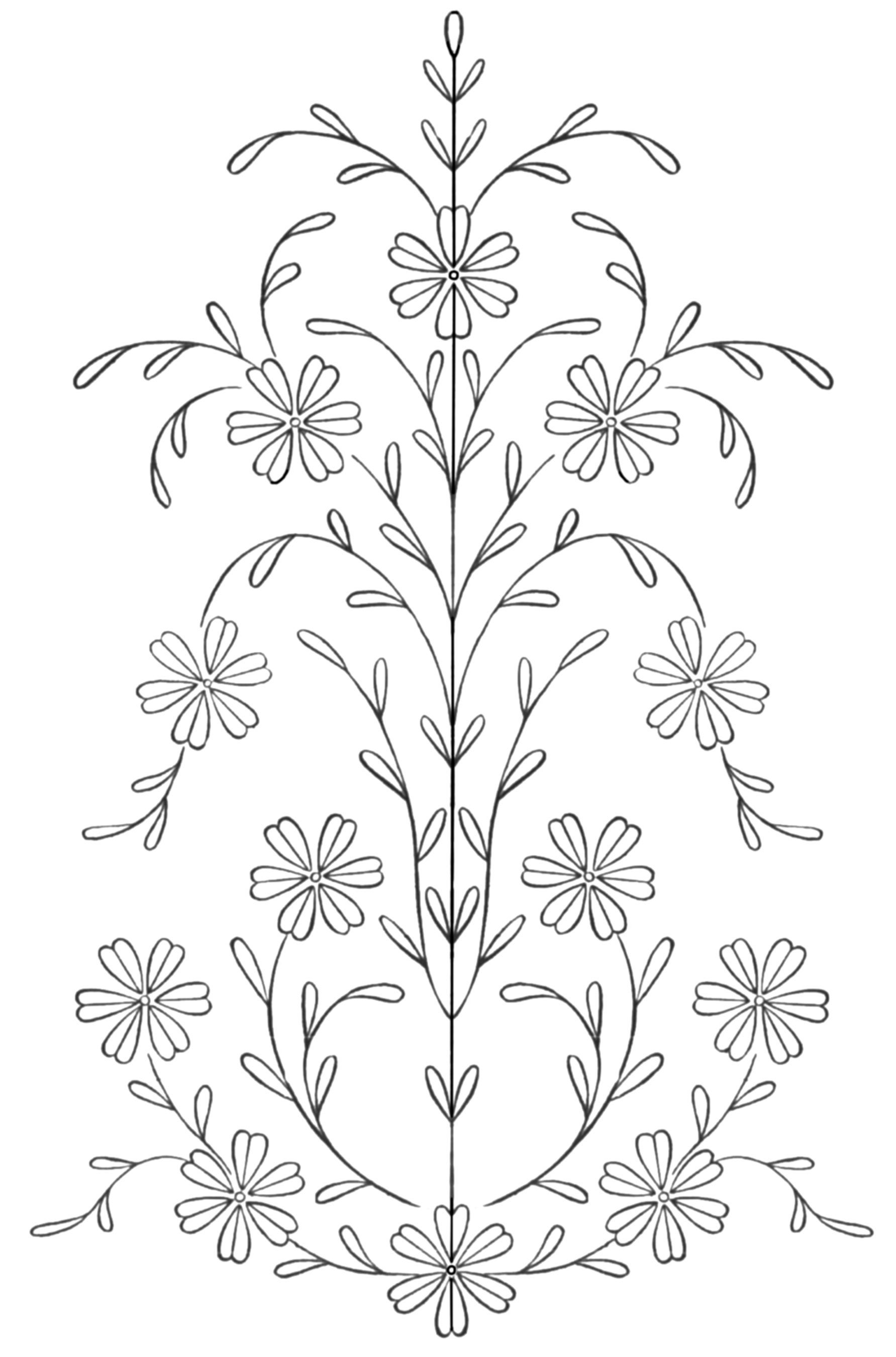 Chicago Daily Tribune, 1911 -- Embroidery Design for Skirt | flowers ...