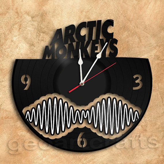 Wall Clock Arctic Monkeys Theme Vinyl Record Clock Upcycled Vinyl Arctic Monkeys Vestimentas Reloj
