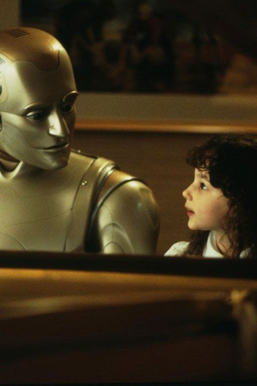 Robin Williams as Andrew Martin & Hallie Kate Eisenberg as Little Miss Amanda Martin - Bicentennial Man
