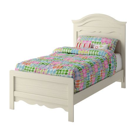 South Shore Summer Breeze Collection Twin Bed White Wash | Walmart.ca