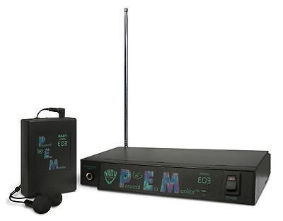 88481 Musical Instruments Nady Eo3 Ee In Ear Wireless Stage Monitor System With Ear Buds Buy It Now Only 149 95 Nady Eo3 Ee Wireless In Ear Monitors Monitor