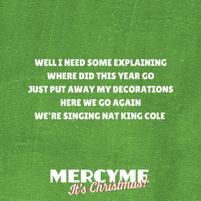 Find Mercy Me\'s new Christmas album on iTunes here: http://klove.cta ...