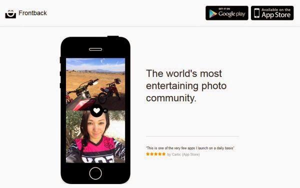 Con #Frontback puedes combinar las dos camaras de tu teléfono en una fotografia