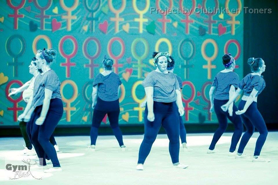 Gymania 2015 - thema wereldfeesten. Choreografie ontstaan v Internationale Vrouwendag