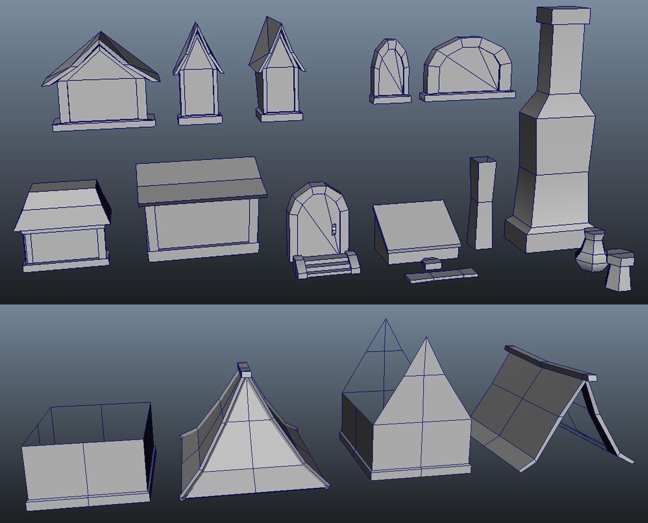 Wow Style Modular Building Parts Modelagem 3d Modelos 3d 3d Max
