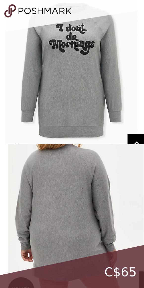 🆕i don't do mornings grey fleece sleep tunic 🆕I DO