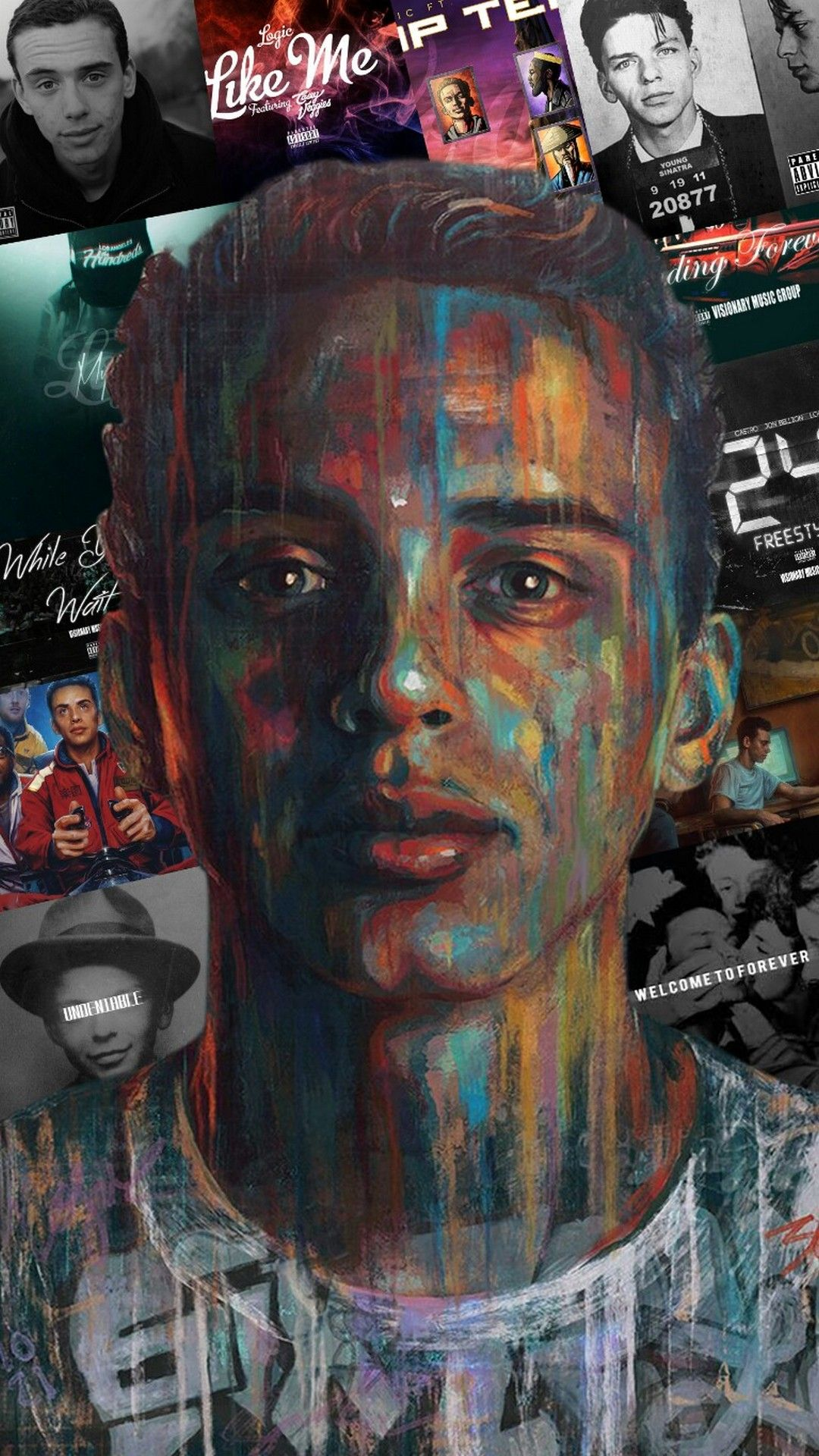Logic Rapper Wallpaper For Mobile With Images Logic Rapper Wallpaper Logic Rapper Logic Art