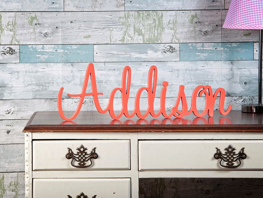 Large Personalized Baby Name Sign, Nursery Wall Decor, Custom Name Sign, Wooden Name, Nursery Decor, Child's Room Decor, Playroom Decor by TheCuttingEtchLLC on Etsy https://www.etsy.com/listing/245730569/large-personalized-baby-name-sign