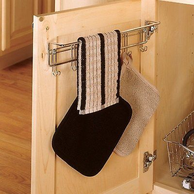 Hand Towel Dish Towels Rack Kitchen Bathroom Cabinet Rv Storage Holder Shelves
