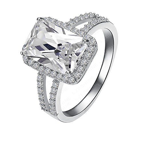 [Retro Series] Gorgeous 1.5ct Austrian Crystal Engagement Ring For Women 18k White Gold Plated.Size 6 7 8 - http://jewelry-and-watches.wegetmore.com/retro-series-gorgeous-1-5ct-austrian-crystal-engagement-ring-for-women-18k-white-gold-plated-size-6-7-8/