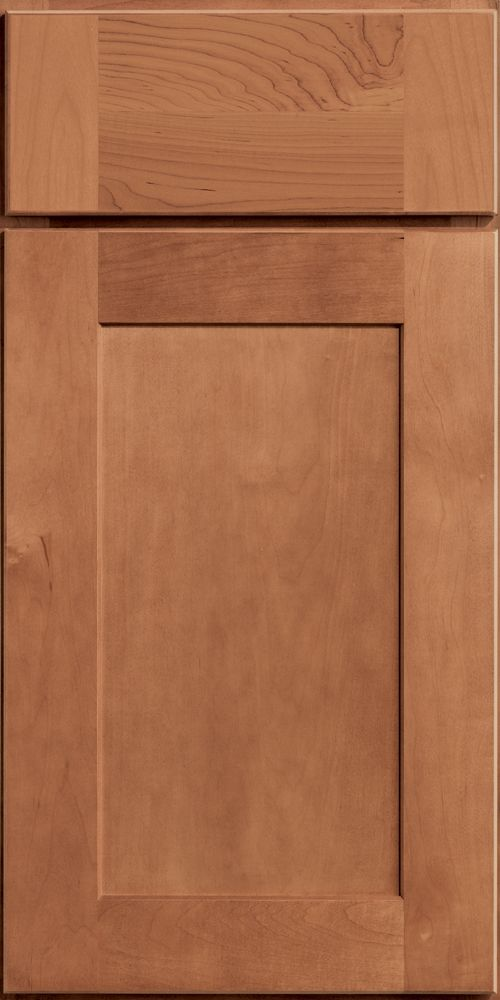 Merillat Classic Shaker Style Tolani Cabinet Door With 3 Piece Drawer Front In Hazelnut Stain On