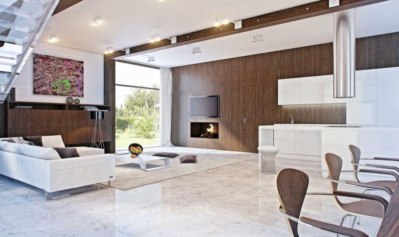 Wohnzimmereinrichtung Ideen Brauntone Sind Modern Brauntone