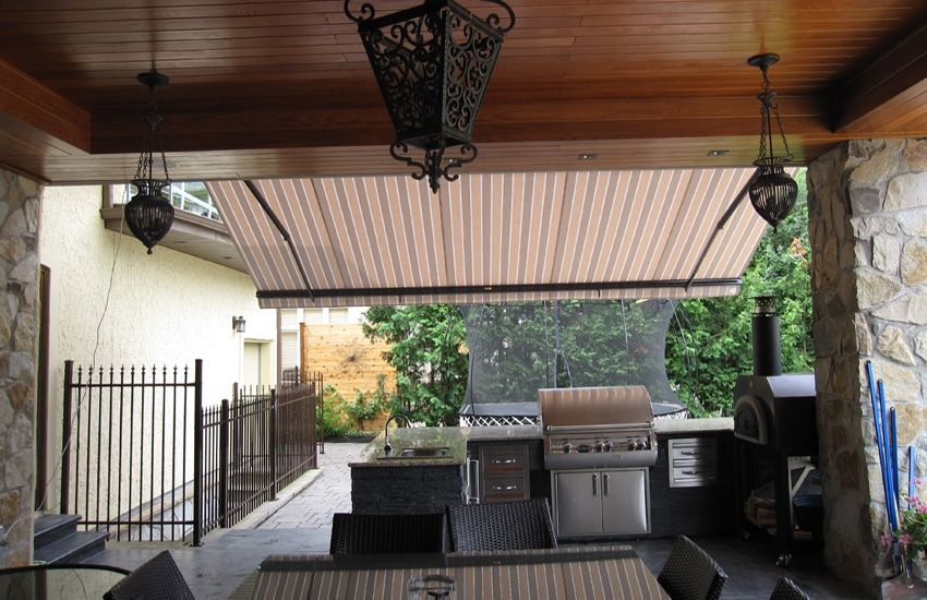 Awning Over Outdoor Kitchen Rolltec Retractable Awnings Toronto Ontario Canada Outdoor Kitchen Retractable Awning Awning